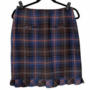 Cabi Wool Blend Plaid Skirt